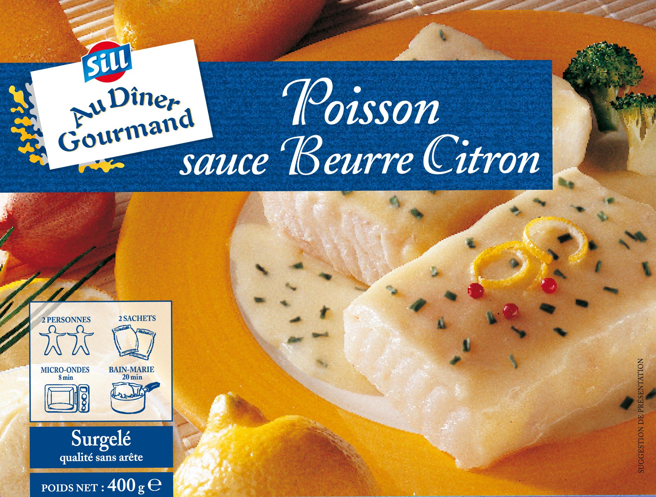 Poisson Sauce Beurre Citron Spartacus Produits Surgeles Pour